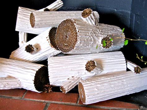 Paper Fireplace Logs by Diy Cardboard Faux Logs Design Sponge