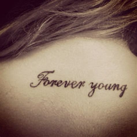 forever young tattoo forever