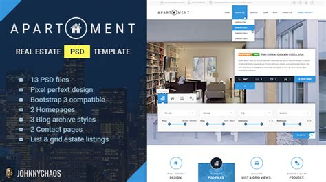 Apartment Premium Real Estate Psd Template Theme For U Apartment Website Templates Free