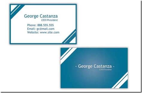 a collection of free creative psd business card templates