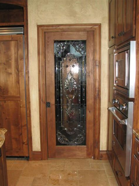 finished pantry door  sandy burnett glass moose lake