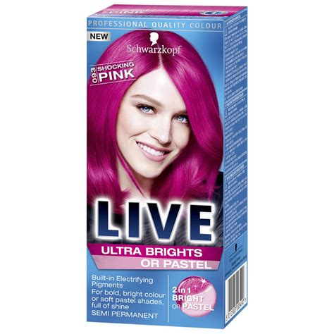 Schwarzkopf Live Hair Color schwarzkopf live 2 in 1 ultra brights or pastel hair dye