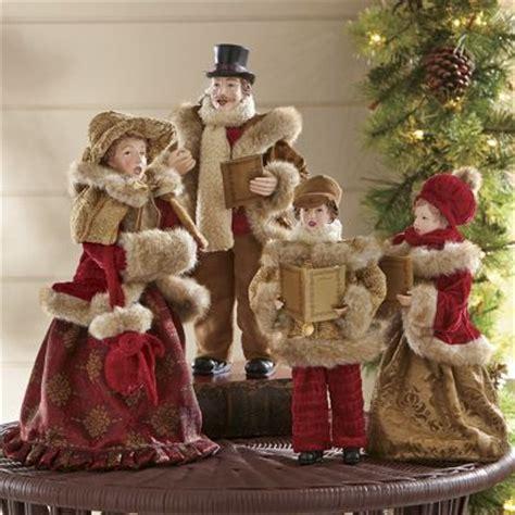 set   family christmas carolers  country door nc