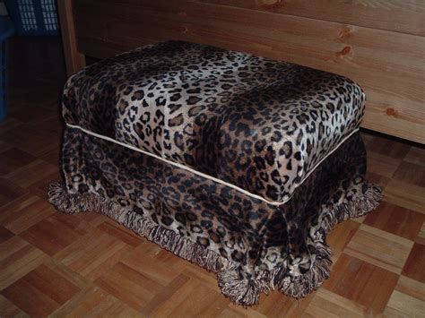 cheetah ottoman ottoman covered with leopard print fabric diy