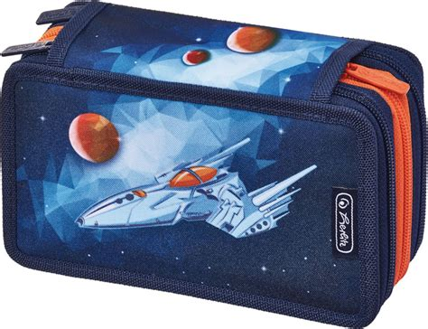pencil cases with three sections herlitz pencil case with three parts and filling jet