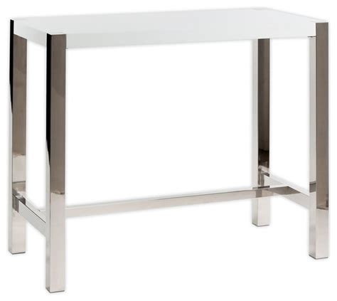 Contemporary Bar Table Moe S Home Riva Rectangular Bar Table In White Contemporary Wine And Bar Cabinets By