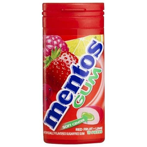 Home Decor Gift Ideas by Mentos Red Fruit And Lime Gum 15 Pcs 10 Pack 110494 The Home Depot