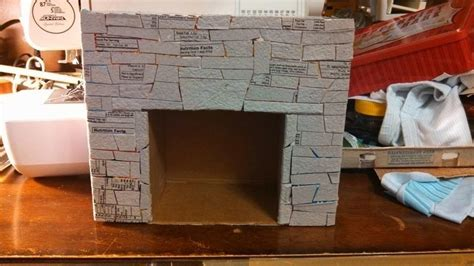 how to make a fireplace out of cardboard fireplace
