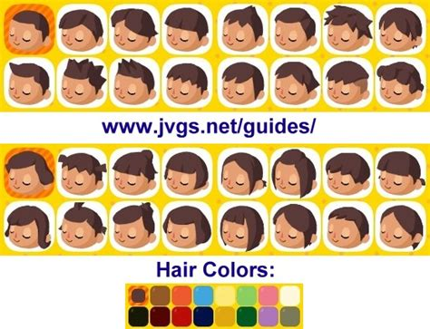 Animal Crossing Hairstyles by Animal Crossing Hair Styles Animal Crossing Happy Home