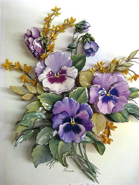 Flower Grc 205 Best 3d Images On Clay Crafts