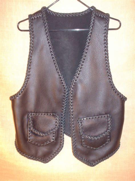 Handmade Vest - handmade vest built w leather braiding of all seams