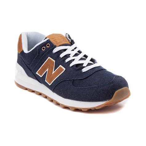 athletic shoe womens new balance 574 athletic shoe denimbrown 401526