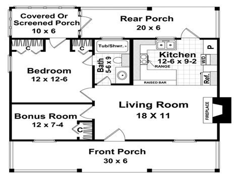 Small house 600 sq ft plans   House design plans