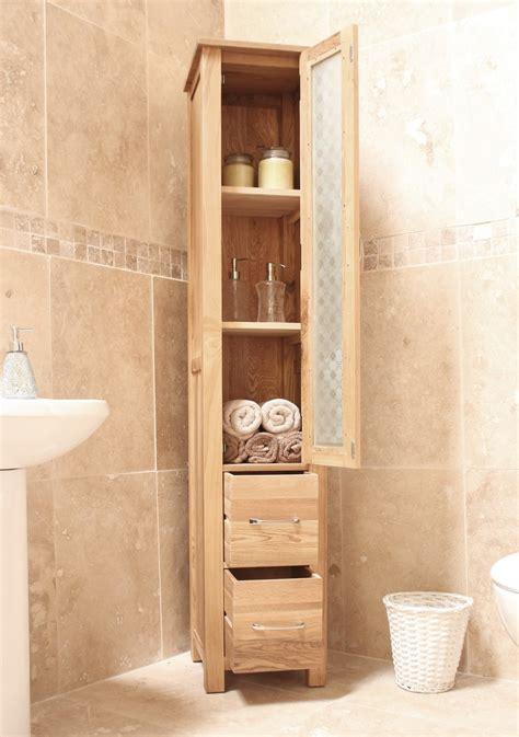 tall oak bathroom cabinets bathroom cabinets ideas