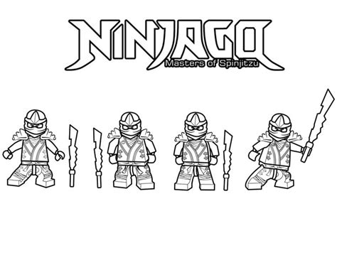 lloyd golden lego ninjago colouring pages dark brown hairs