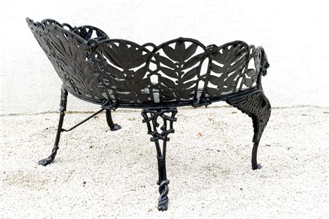 wrought iron garden benches sale pair of cast iron garden benches saturday sale at 1stdibs