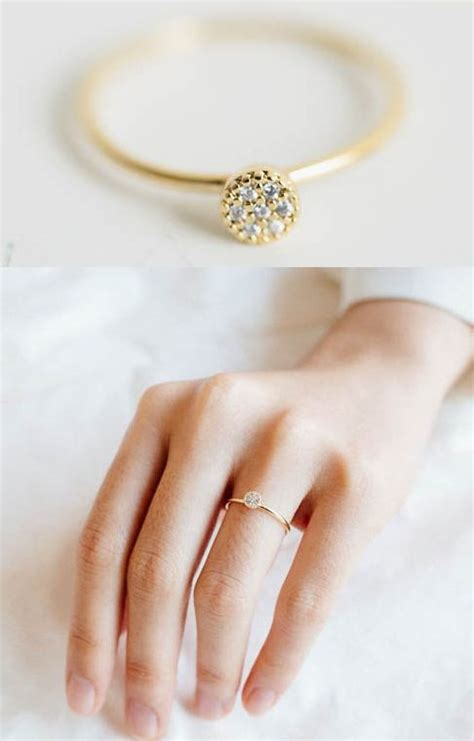 this is my engagement ring simple thin gold band