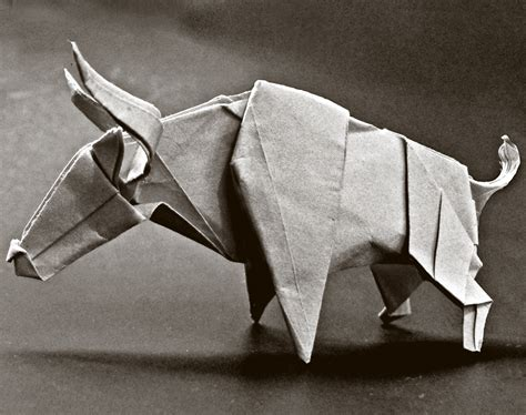 Bull Origami - origami bull 28 images folding origami on 20