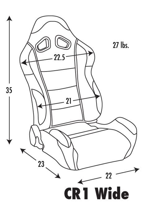 car seat dimensions order racing seats buyer s guide racing seats