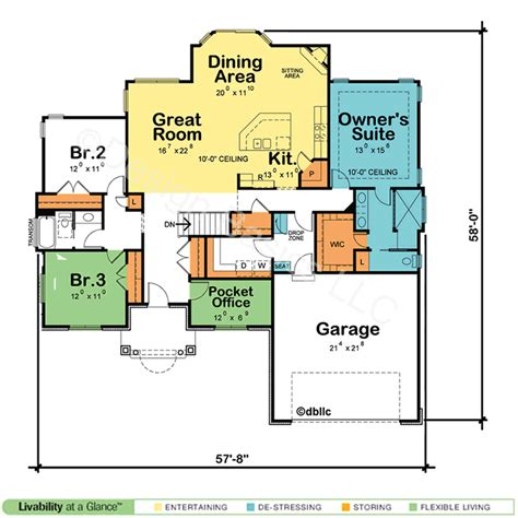 home design basics one story floor plans best open one story house plans