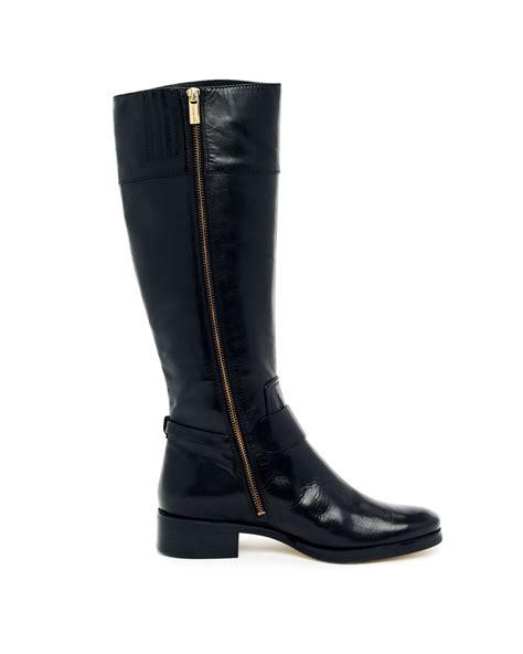 michael kors fulton harness boots lyst michael kors fulton harness boot in black