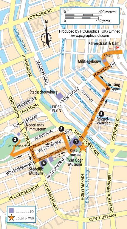 amsterdam museum quarter map 17 best images about maps used in travel guides on