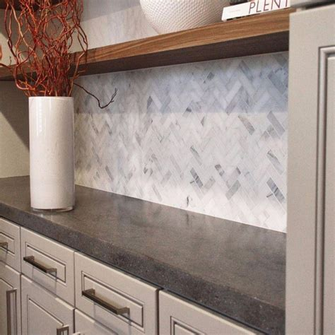 marble herringbone backsplash kitchen backsplash ideas to fit all budgets