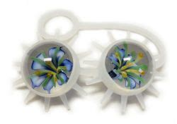 decorative spiky balls glass ben wa balls with spiky silicone strap