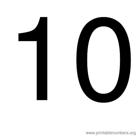 printable numbers from 1 10 number images 1 10 images