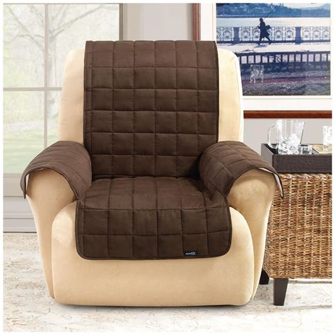 fit waterproof quilted suede wing chair recliner