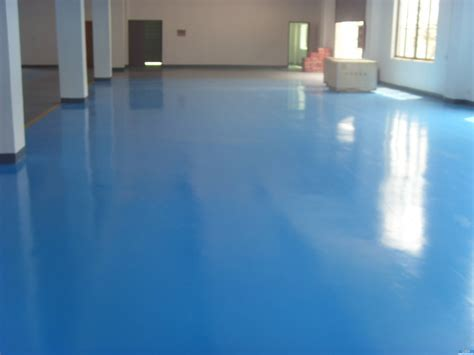 Blue Color Valspar Garage Floor Coating After Makeover