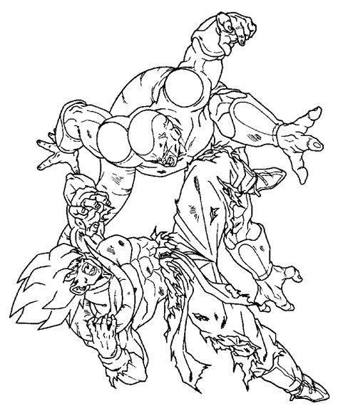 dragon ball z frieza coloring pages free coloring pages of goku vs frieza