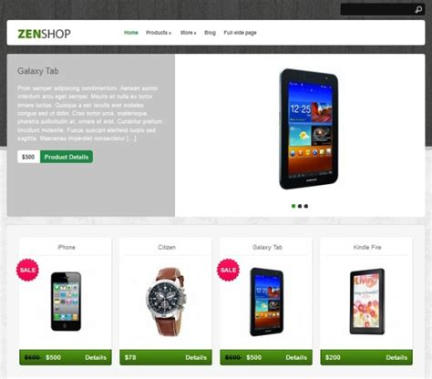 free wordpress ecommerce theme zenshop free ecommerce wordpress theme themes4wp