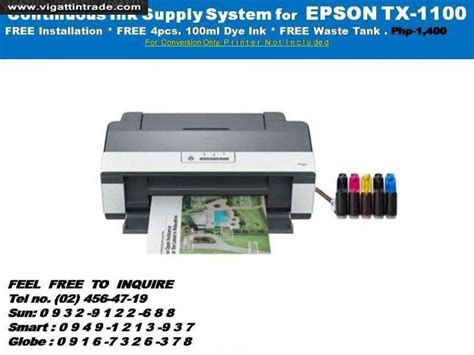 Printer A3 Epson Stylus Office T1100 ciss convertion for epson t1100 a3 printer vigattin trade