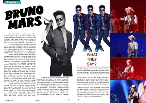 Kaos Bruno Mars 18 shout magazine