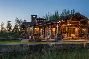 rocky mountain house lights rocky mountain log homes timber frame in twilight