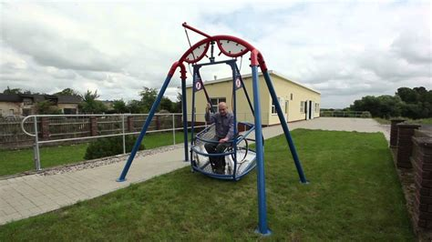 handicap swings dda wheelchair swing youtube