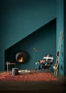 wanfarben ideas dark green wall color orange carpet modern