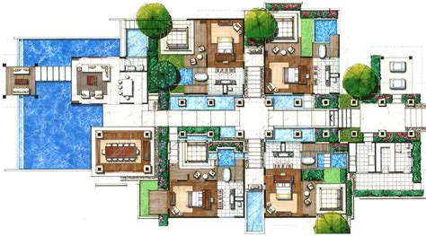 villas floor plans resorts studio design home plans