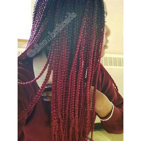 burgundy braiding hair 1000 ideas about burgundy box braids on pinterest box