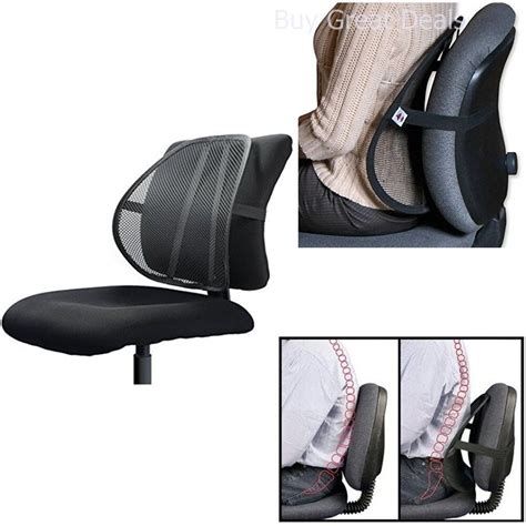 lumbar support  office chair car mesh  pain relief posture corrector desk  ebay
