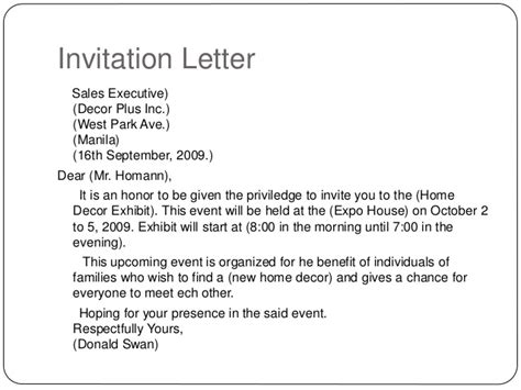 invitation letter for open house note paper template for word