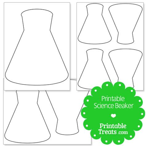 printable science beaker from printabletreats com shapes