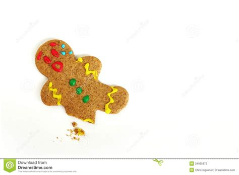 a leg l cookie gingerbread with broken leg stock photo