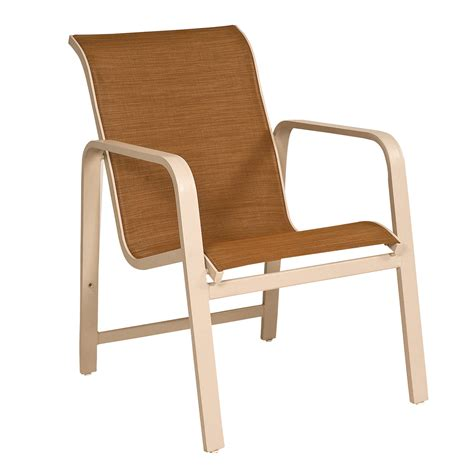 Sling Stackable Patio Chairs Woodard 6g0417 Landings Sling Stackable Outdoor Dining Arm Chair Atg Stores