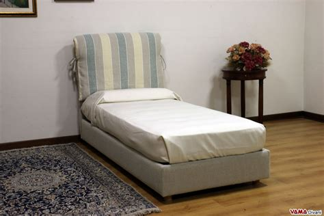 Bed With Cushioned Headboard fabric bed with two upholstered cushions as headboard