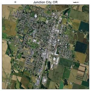 aerial photography map of junction city or oregon