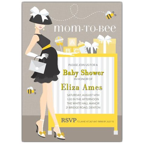 Bee Baby Shower Invitations by To Bee Baby Shower Invitations Paperstyle