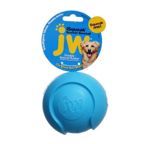 jw pet jw pet isqueak bouncing baseball rubber dog toy
