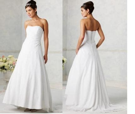 Plain White Wedding Dresses by Plain White Wedding Dress Designs Wedding Dress